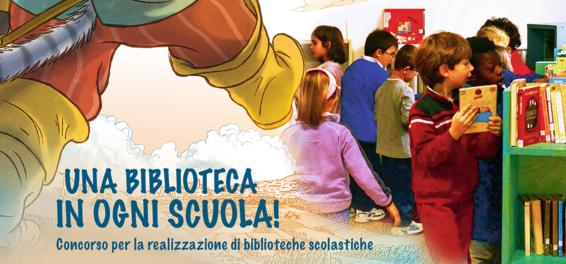 "Competition for the creation of school libraries ""A Library in Every School"" - Birba Assisi Italy"